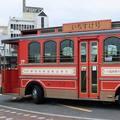 錦帯橋までのプチ旅「いちすけ号」路面電車型レトロバスで行こう!