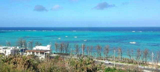 美ら海水族館までの58号線沿いの景色