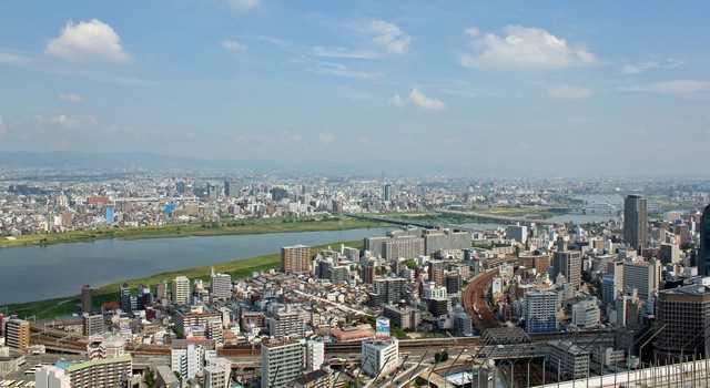 大阪・梅田スカイビルの空中庭園展望台