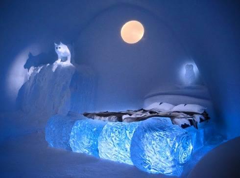 スウェーデンのアイスホテルのお部屋3