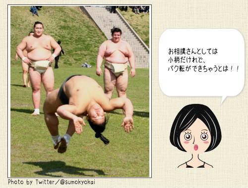お相撲さんが軽やかなバク転!相撲協会のツイッターがオモシロイ