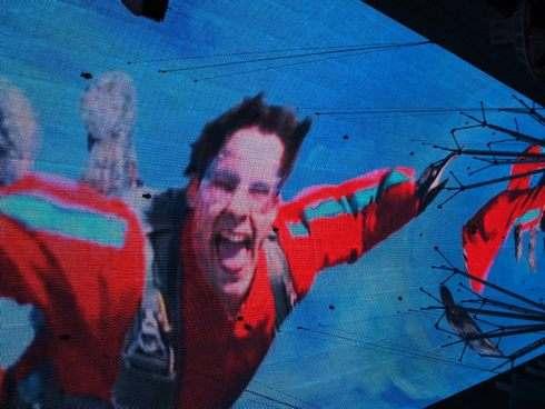 フリーモントストリートの天井ショー 映像が流れる