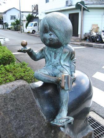 水木しげるロード 鬼太郎のブロンズ像