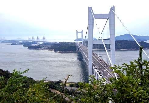 瀬戸大橋を倉敷側から眺める展望スポット