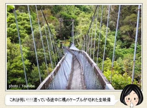 吊り橋のケーブルが切れた瞬間!ニュージーランドで渡っていた橋から投げ出される恐怖