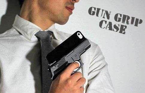 ガングリップケース、拳銃スマホカバー