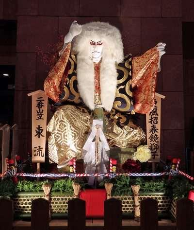 博多祇園山笠の東流舁き山展示、博多ライトアップウォーク