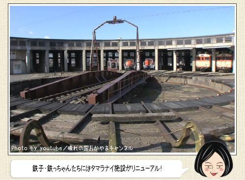 津山まなびの鉄道館、機関車庫が2016年春にリニューアルOP!