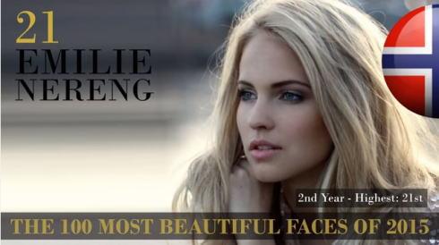 2015世界で最も美しい顔100 21位