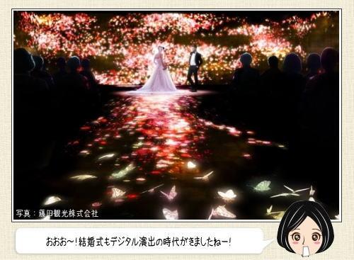 結婚式はデジタルアートで演出する時代!椿山荘×チームラボの挙式がスゴイ