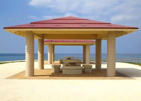沖縄 美らSUNビーチの東屋