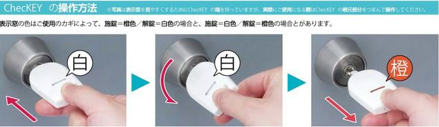 MIWA製の鍵のかけ忘れ確認に、チェッキーが便利