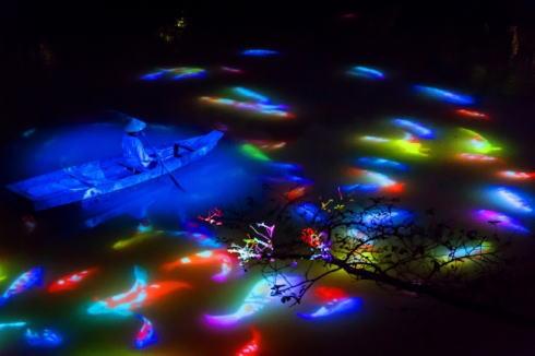 チームラボ 御船山楽園ライトアップ