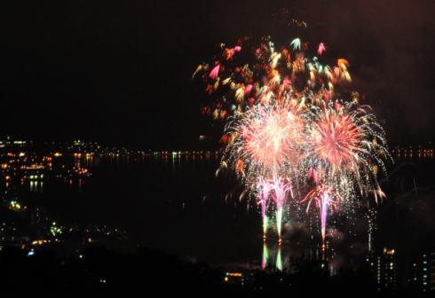 諏訪湖花火大会の写真