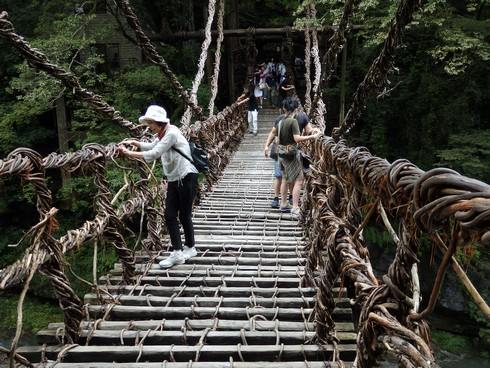徳島県・祖谷のかずら橋