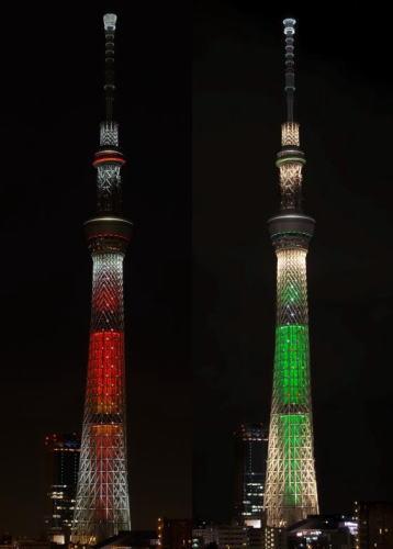 東京スカイツリーの特別ライティング