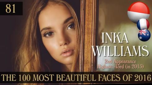 2016年 世界で最も美しい顔100人 81位