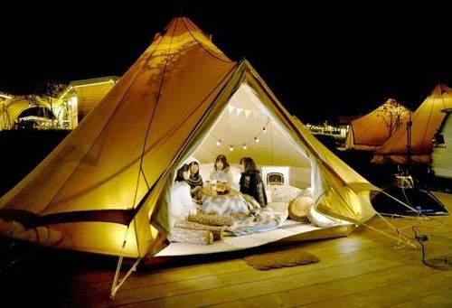 こたつグランピング、京都でオシャレにキャンプと温泉が楽しめる
