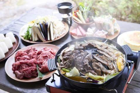 京都のグランピング  GRAXで、季節の鍋料理やBBQ