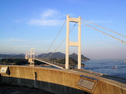 糸山公園から見る来島海峡大橋