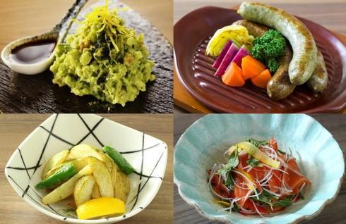 抹茶ビアガーデンの料理 画像