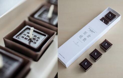 倉敷の珍しいキャンドル、チョコレートや試験管・カード型など倉敷製蝋から
