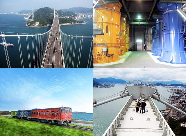 関門海峡を上下楽しむ!主塔から360度の大パノラマと、新観光列車の旅