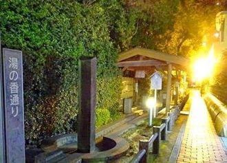 山口 湯田温泉の足湯めぐりで、むくんだ足スッキリ!夜利用も出来て無料が嬉しい
