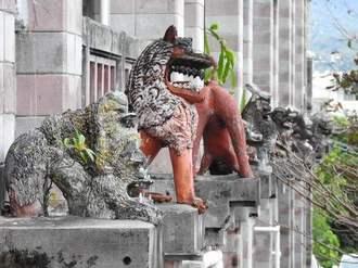 沖縄・名護市役所はシーサーだらけ!庁舎にズラリ並ぶユニークなシーサーたち