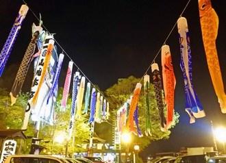 いろり山賊、山口の名物レストランはお祭り装飾で煌びやか!