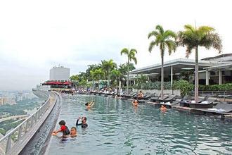 シンガポールを制覇した気分になれる、マリーナベイサンズ・天空プールからの絶景