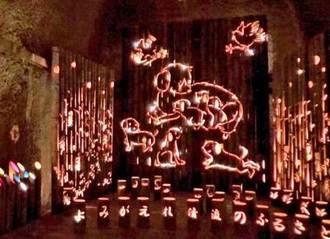トンネルの先は光の別世界!竹あかり幻想の世界、福岡県八女市の竹灯籠に圧倒
