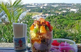 沖縄の路上アイス「アイスクリン」の絶景カフェ・アーク、丘の上にある不思議な建物