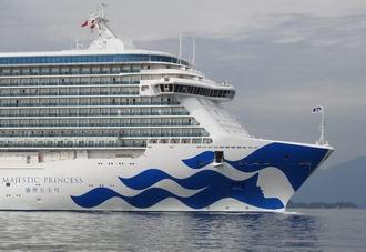 マジェスティックプリンセス、巨大な豪華客船が広島・瀬戸内海へ