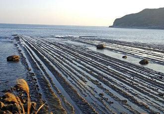 海岸に自然が作った不思議な模様「鵜戸千畳敷奇岩」の風景