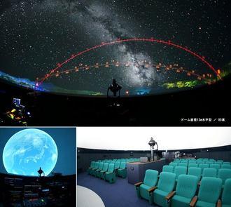 米子市に新プラネタリウム、美しい星空に「名探偵コナン」投影も