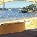 瀬戸大橋を正面に眺めるビーチで「せとうちグランピング」アクティビティ体験も