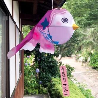 風に揺れる「アマビエちょうちん」山口県柳井市の夏の風物詩・金魚ちょうちんをアレンジ