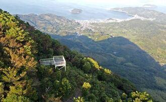 嵩山展望テラス、周防大島にある天空の展望台から景色をひとり占め!
