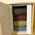 カラーボックスは横置きも便利!スリコのインナーボックス収納アイディア