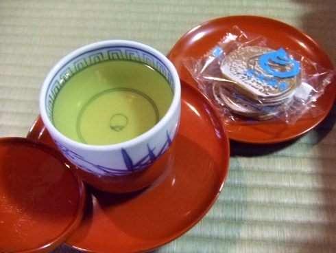 道後温泉 本館 茶菓子とお茶