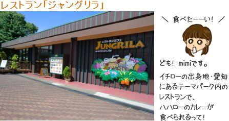 鈴木家のカレー、イチローの母の味 日本モンキーパークで