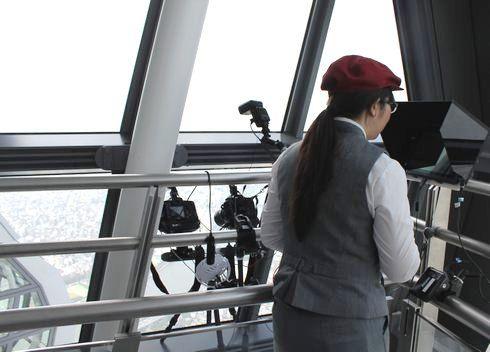 スカイツリー 天望回廊から記念撮影