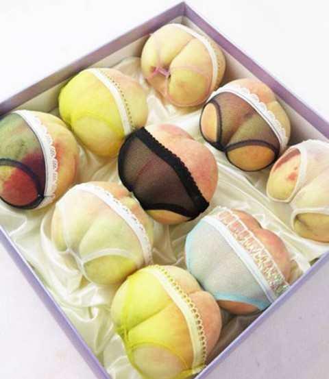 中国でパンツをはいた桃が人気に