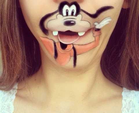 口を生かした鼻下アート、グーフィー