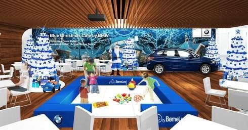 BMWクリスマスカフェ、店内の様子