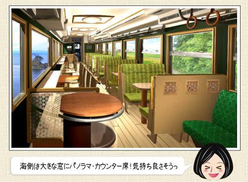 富山県で2015年秋からコンセプト列車、運行スタート!海側はパノラマビュー