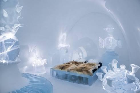 スウェーデンのアイスホテルのお部屋1