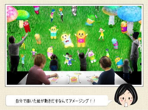 ふなっしーがアートとコラボ!「未来の遊園地」日本科学未来館にて
