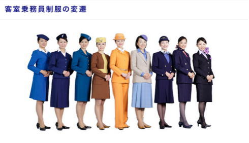 ANA歴代制服の変遷